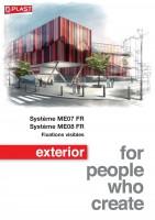 Systèmes ME07 et ME08 FR –  Fixations visibles – Pose sur ossature bois et métallique
